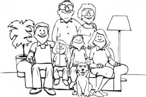 1 7 6 1 Three Generations Of A Family Posed For A Picture Clipart Image