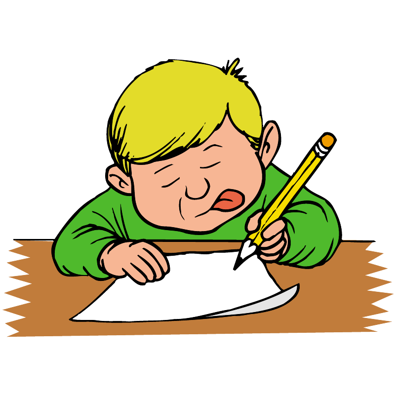 2 Kids Writing Clip Art