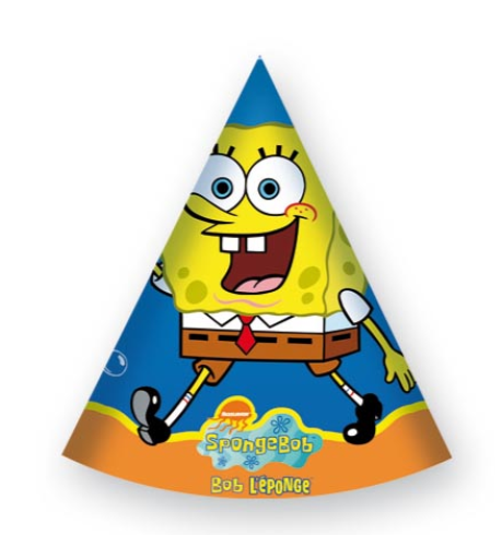 6 Spongebob Birthday Hats Bob Esponja Boy Birthday Parties