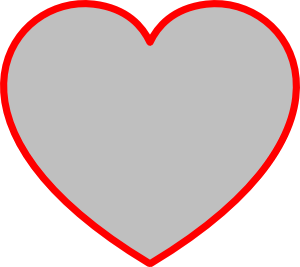 Lovely 9 Heart Outline Clip Art Free Clipart Images