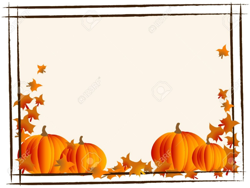 Abstract Frame With Orange Pumpkins Royalty Free Cliparts Vectors