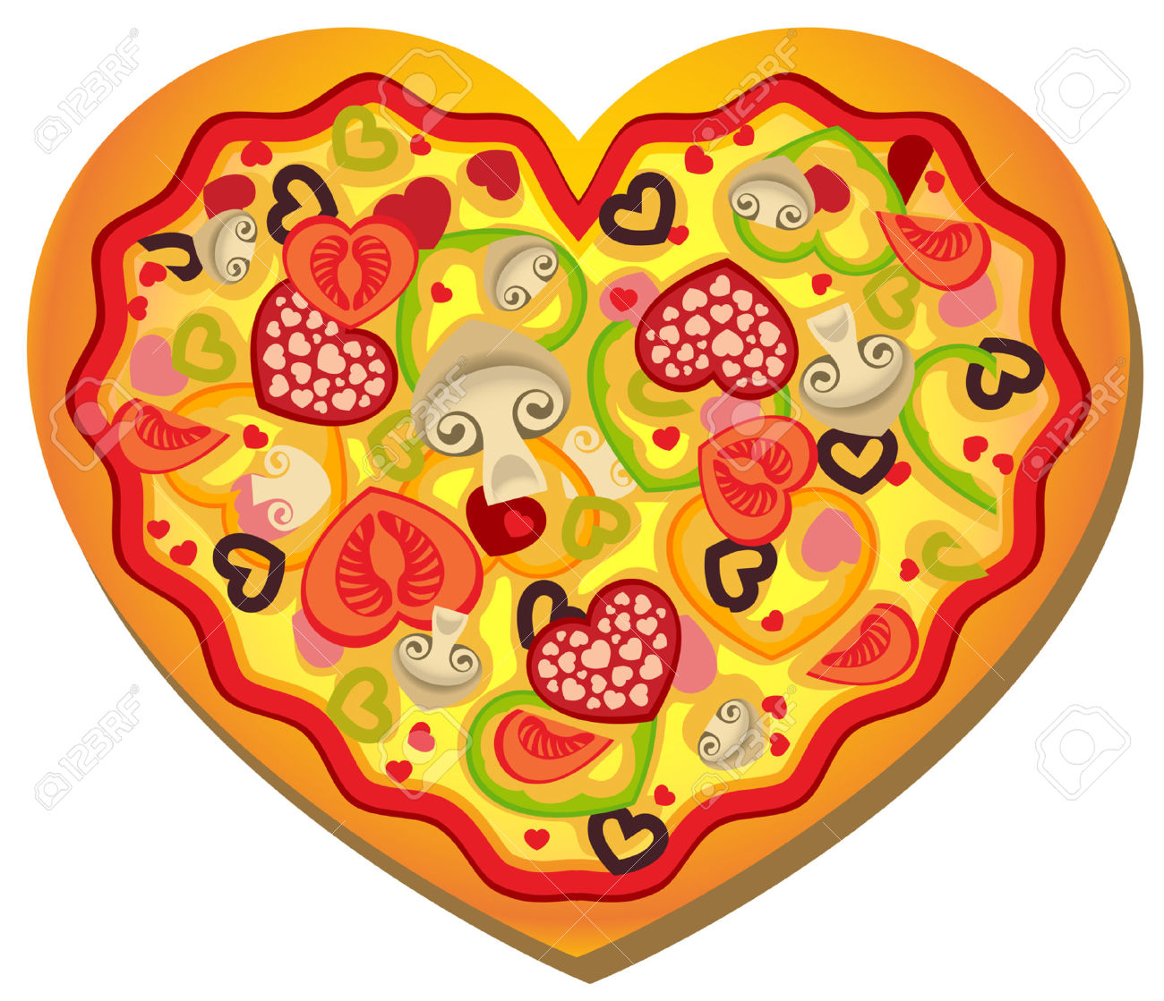 Alfa Img Showing Gt Valentine Heart Clip Art Pizza