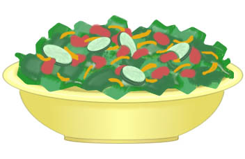 Am Salad Free Clipart Images