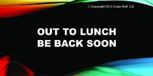 Amazon Com Out To Lunch Cube Sign Colored Background Desk