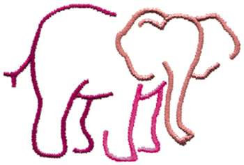 Animals Embroidery Design Elephant Outline From Dakota Collectibles
