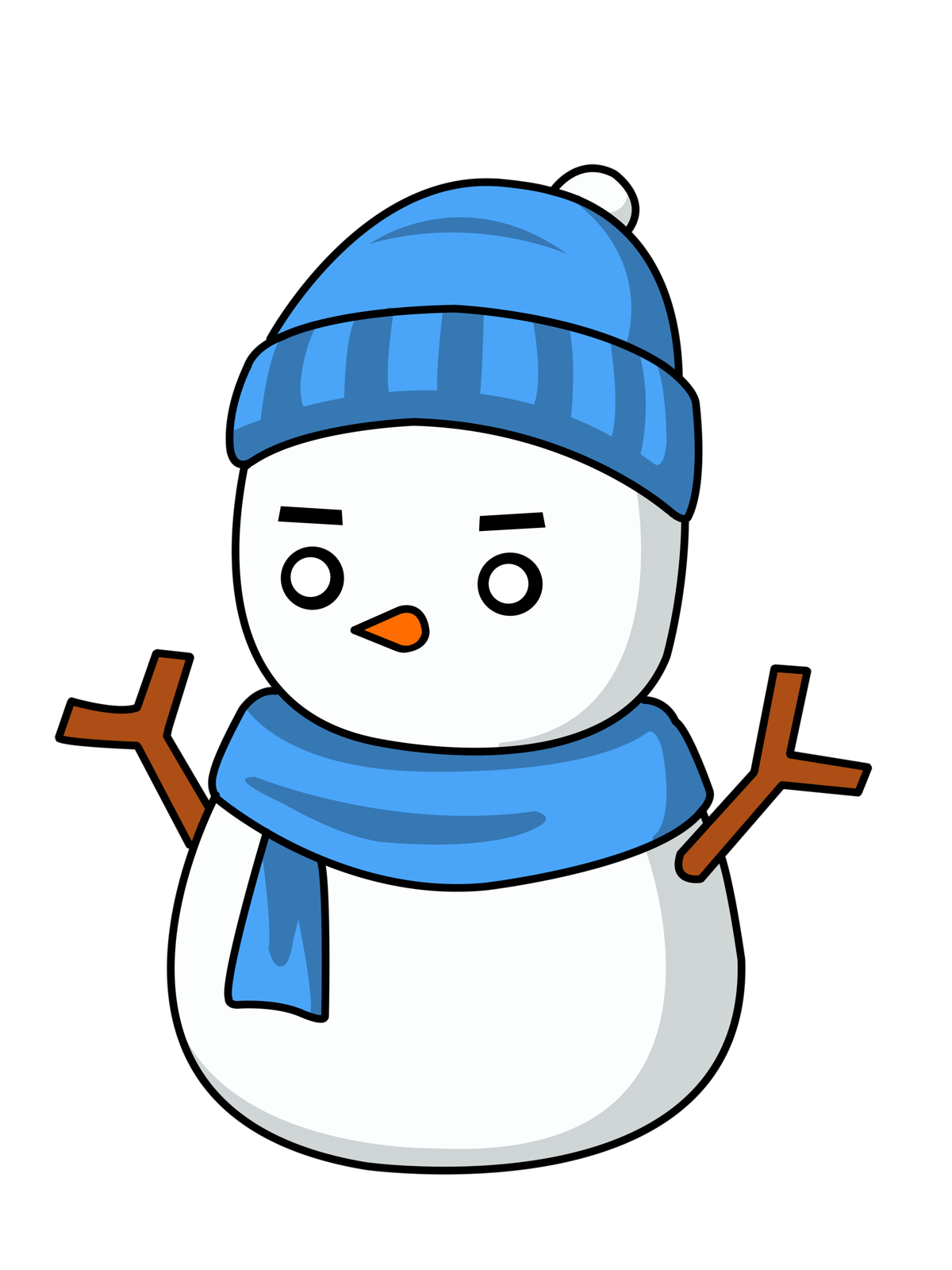 Best Snowman Clipart #2246 - Clipartion.com