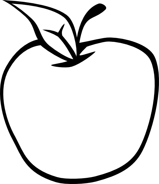 Apple Clip Art Black And White Free Clipart Images