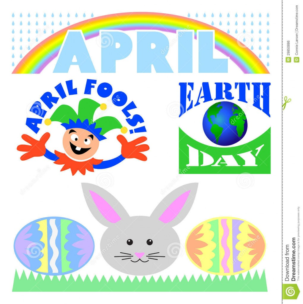 April Calendar Clip Art : April clip art clipartion