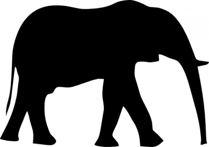 Baby Elephant Clipart Outline Free Clipart Images