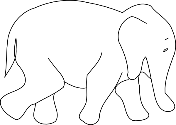 Baby Elephant Outline Clip Art At Vector Clip Art