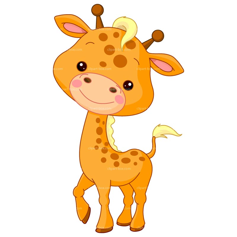 Baby Giraffe Cartoon Clip Art