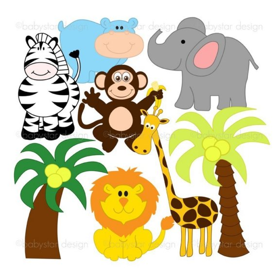 Baby Jungle Animals Clipart Free Clipart Images