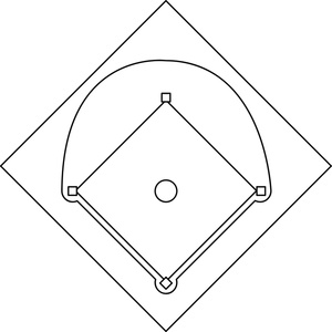 Baseball Diamond Clipart Image Baseball Field Or Baseball