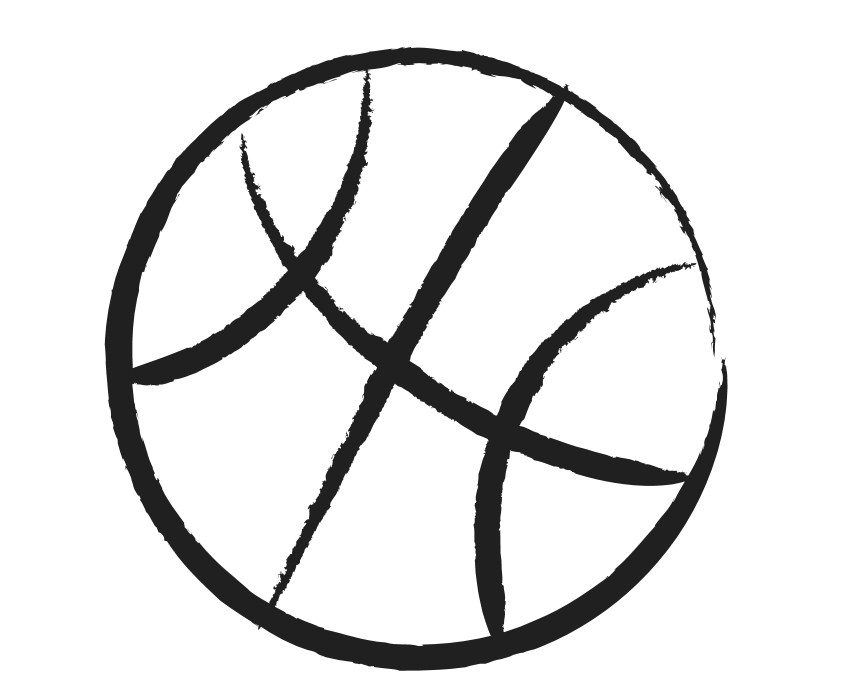 Basketball Ball Clipart Black And White Pictures Geek Sites