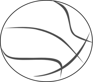 Basketball Outline Clip Art At Vector Clip Art Online