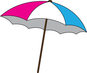 Beach Umbrella Clipart Image Clipart Illustrationo Of A Pink