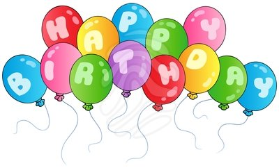 Birthday Balloons Clip Art Beverage Napkins Clipart Free