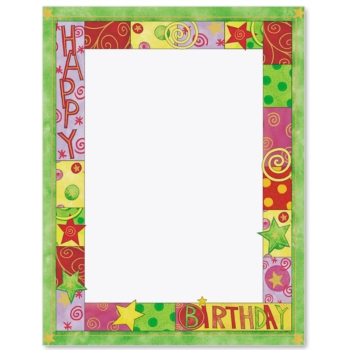 Birthday Bash Designed Paperframes Border Papers Paper Direct