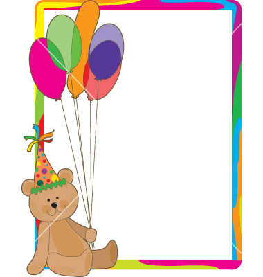 Birthday Bear Border Vectormkoudis Image Vectorstock