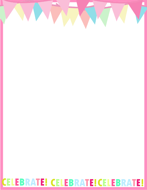 Birthday Border For Invites Png
