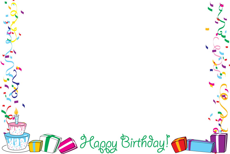 Birthday Borders For Pictures Images