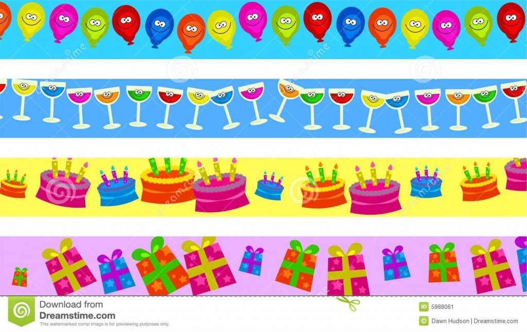 Birthday Borders Stock Image Image 1