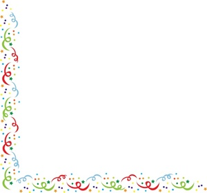 Birthday Confetti Border Free Clipart Free Clip Art Images