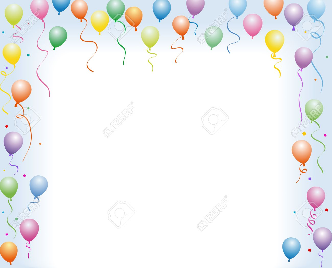 Birthday Flying Balloon Royalty Free Cliparts Vectors And Stock