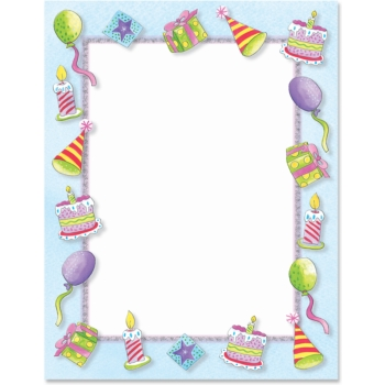 Birthday Party Designed Paperframes Border Papers Paper Direct