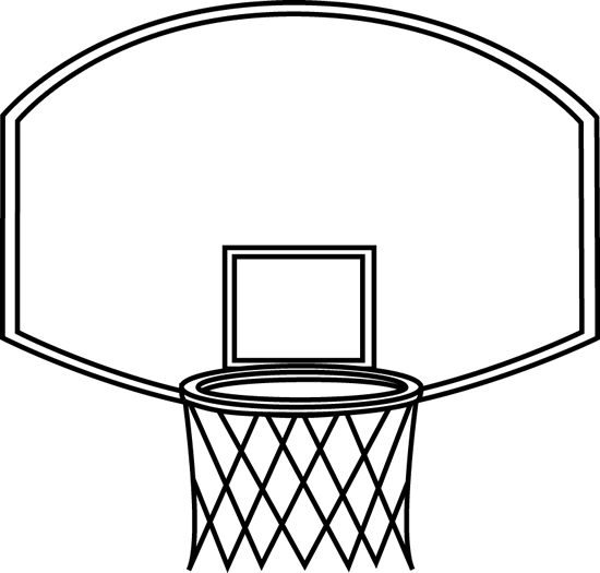Black And White Basketball Backboard Clip Art Black And White
