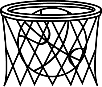 Black And White Basketball In Net Clip Art Black And White