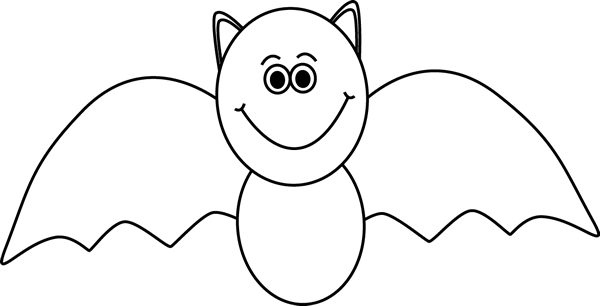 Black And White Bat Clip Art Black And White Bat Image