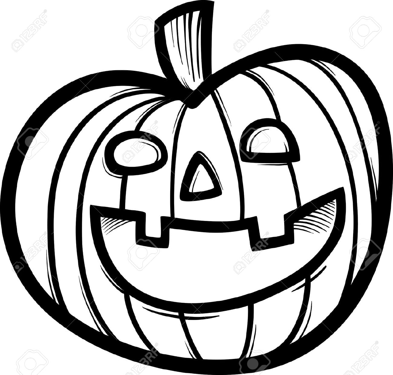 Pumpkin Clip Art at Clker.com - vector clip art online ... |Cartoon Black And White Pumkin