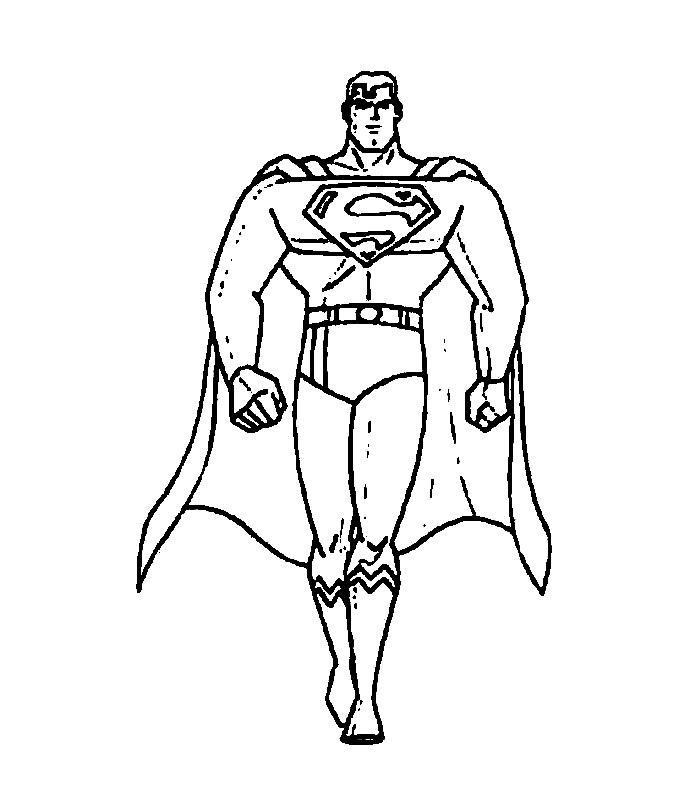 Black And White Clip Art Of Superman
