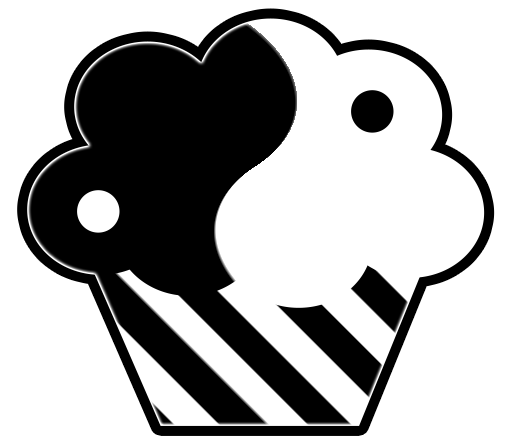 Black And White Cupcake Clipart Gadizx