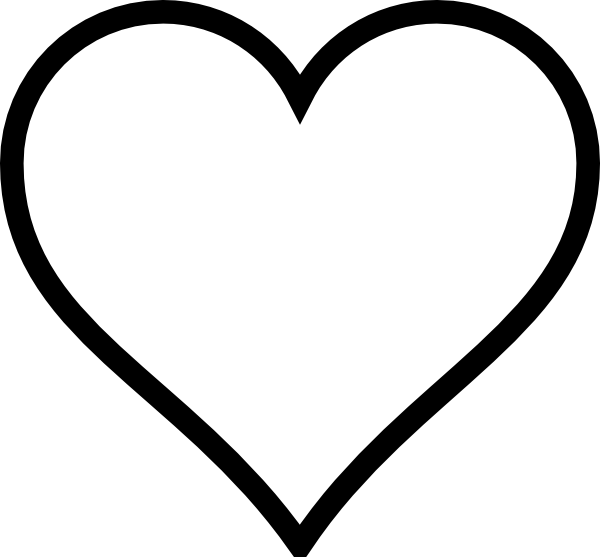 Black And White Heart Clip Art At Vector Clip Art