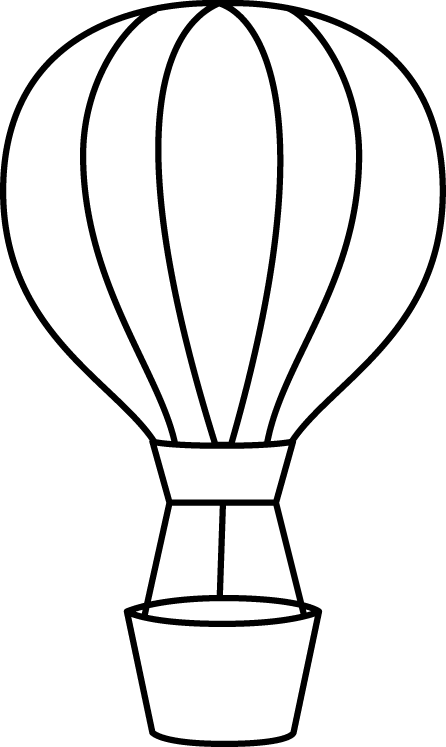 Black And White Hot Air Balloon Clip Art Black And White Hot Air
