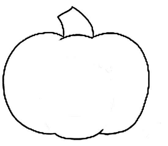 Black And White Pumpkin Outline Clip Art Images
