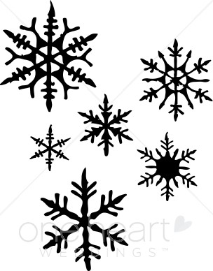 Black And White Snowflake Clipart Free Clip Art Images