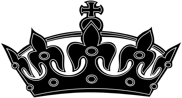 Black White Crown Clip Art At Vector Clip Art Online