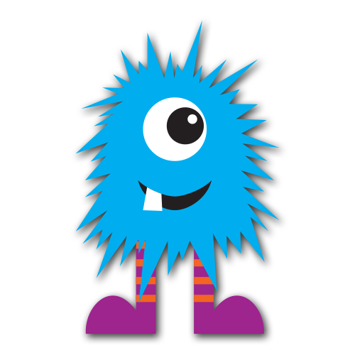 Blue Monster Clip Art Designability