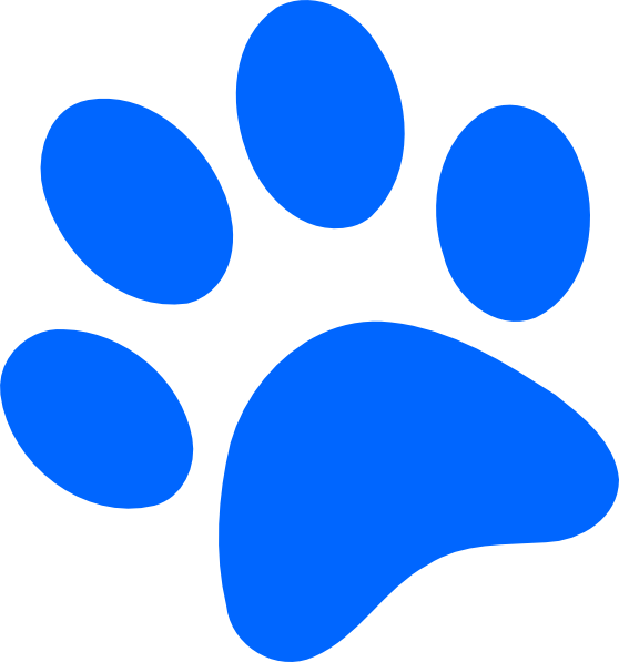 Blue Paw Print Clip Art Free Clipart Images