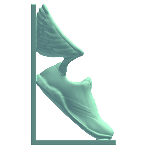 Bookend Track Shoe With Wings 3d Model Made With D Meshmixer