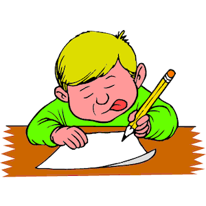 boy writing clip art - photo #17