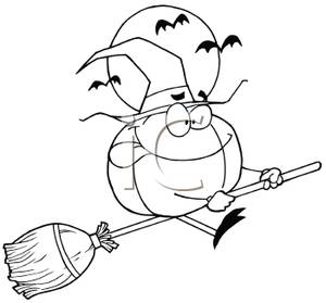 Broom Black And White Clipart