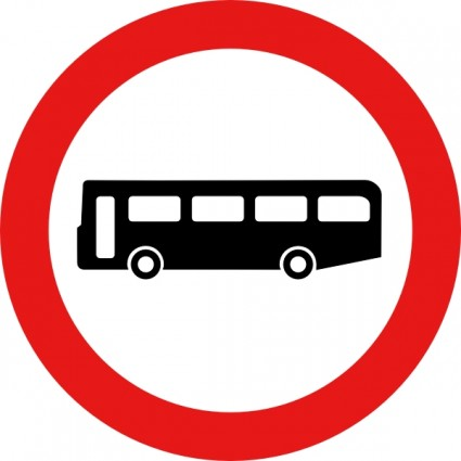 Bus Road Sign Clip Art Free Vector In Open Office Drawing Svg