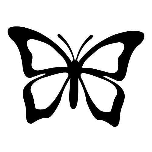 Butterflies Graphics Silhouettes On Pinterest Silhouette