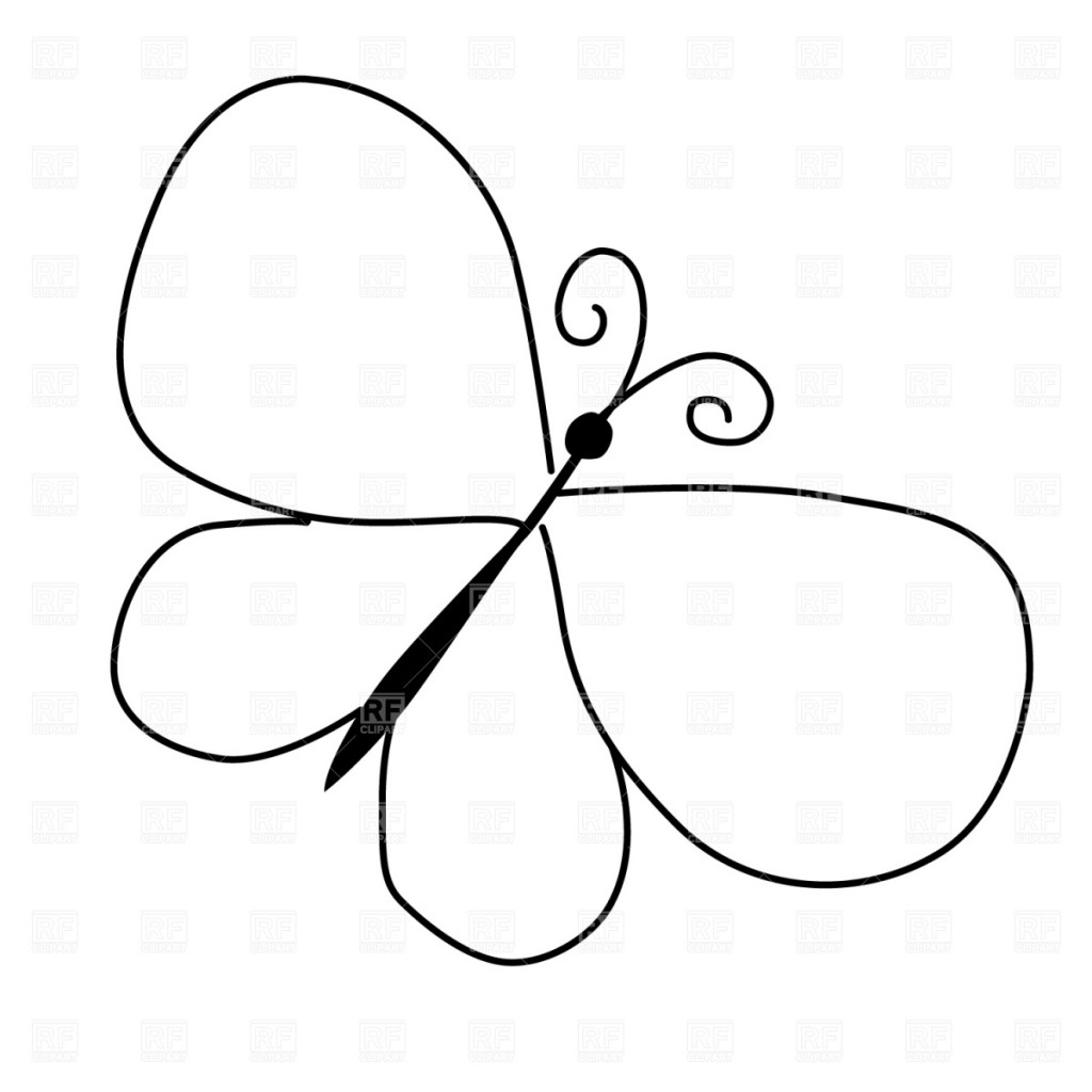 Butterflies Outline Free Clipart Free Clip Art Images