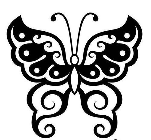 Butterfly Outline Baby Crafts Pinterest