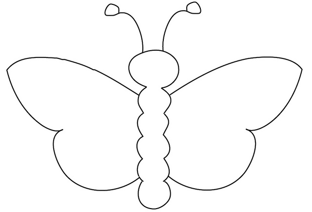 Butterfly Outline Pattern